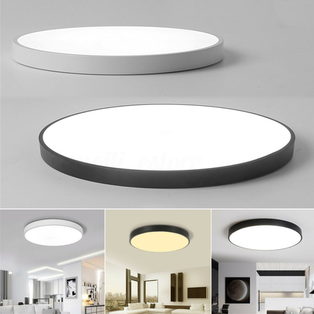 Led Round Ceiling Down Light Fixture Home Bedroom Living Room Surface Mount Lamp Ebay