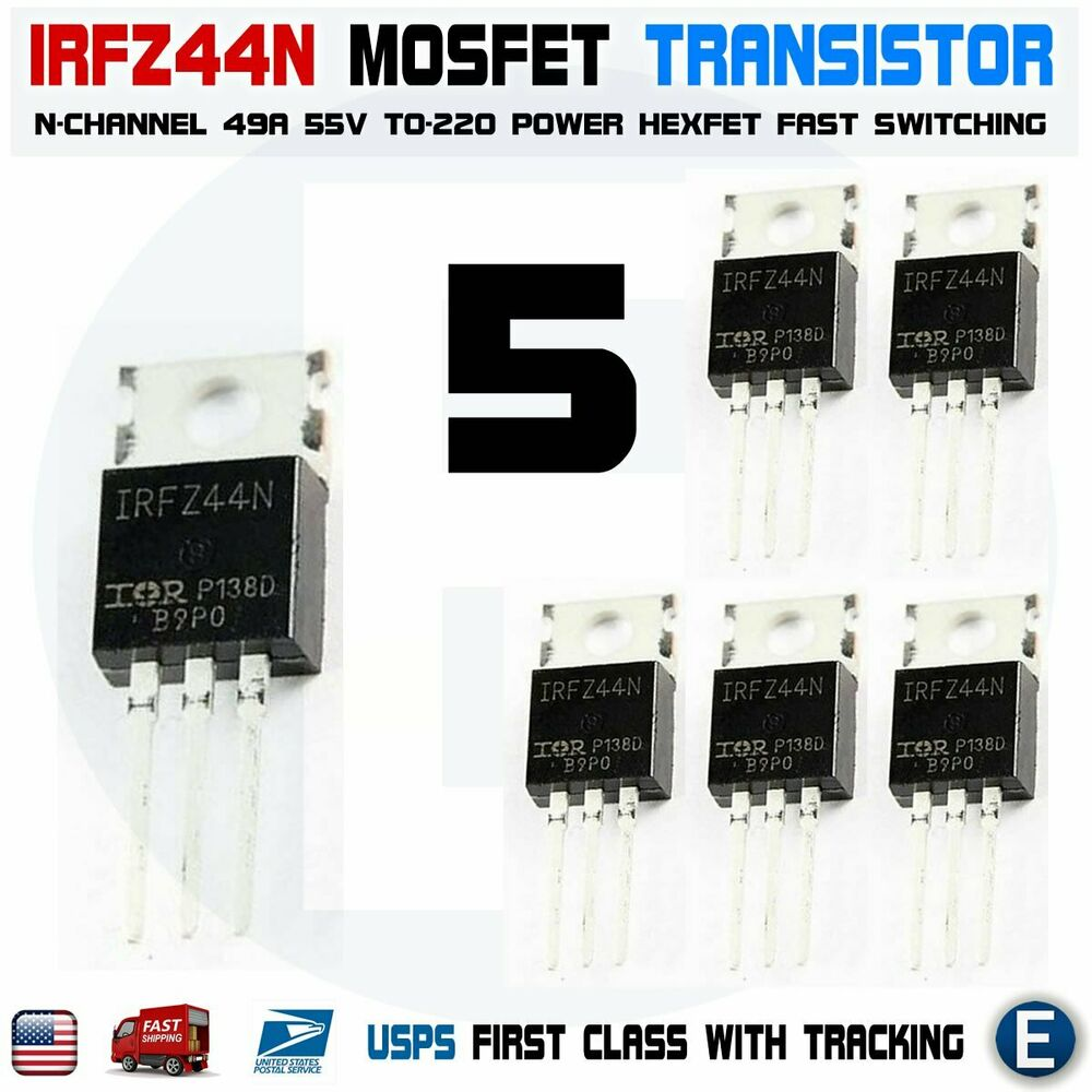 5pcs Irfz44 N Channel Hexfet Power Mosfet 49a 55v Irfz44n Transistor Supply Current Limiters Using Transistors And Diodes Gate Fet 685642347746 Ebay