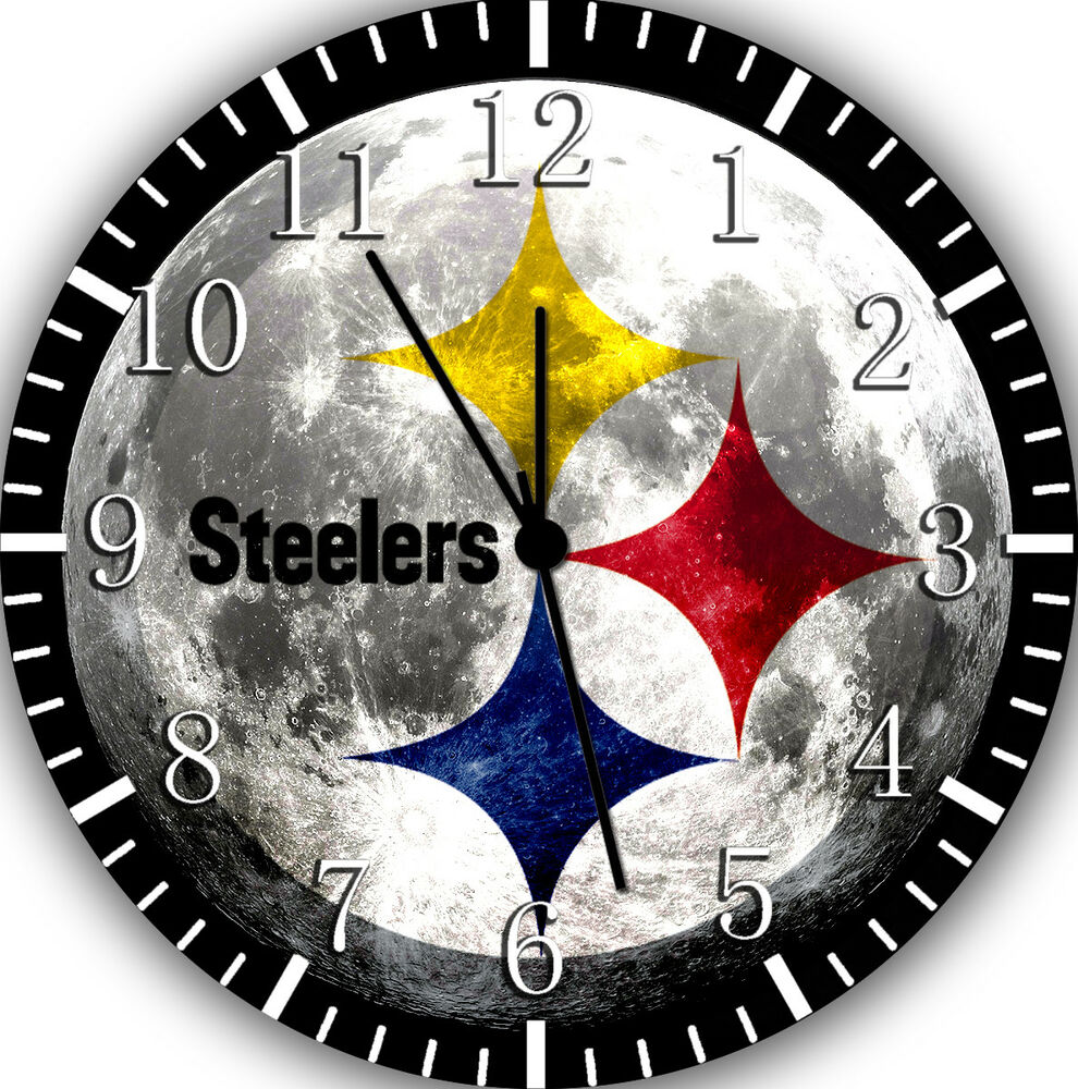 Pittsburgh Steelers Wall Clock Nice For Gift Or Home