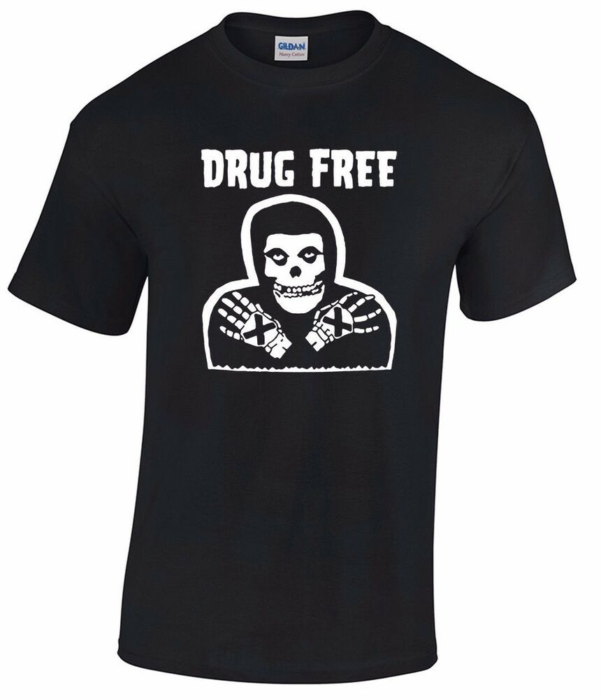 86d2e942d5cff6 Details about DRUG FREE Crimson Ghost T-shirt misfits straight edge punk  minor threat h2o
