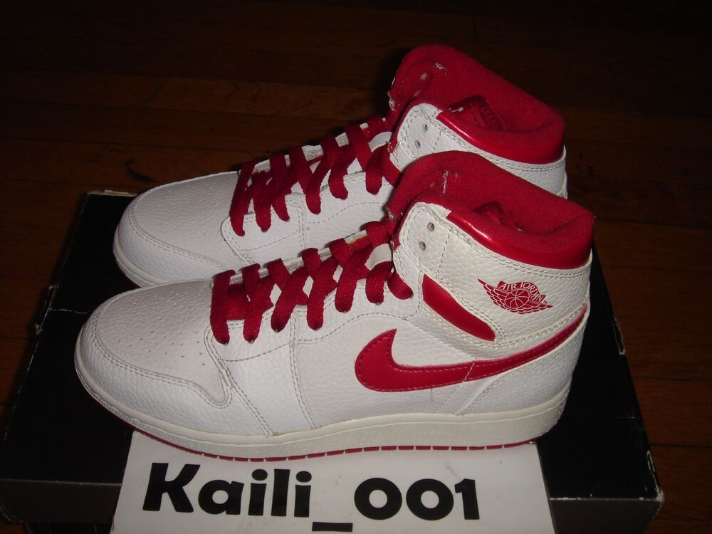 5ee293d0727a Details about Nike Air Jordan 1 Retro High (GS) Low White Size 5Y  332558-161 Yellowing B