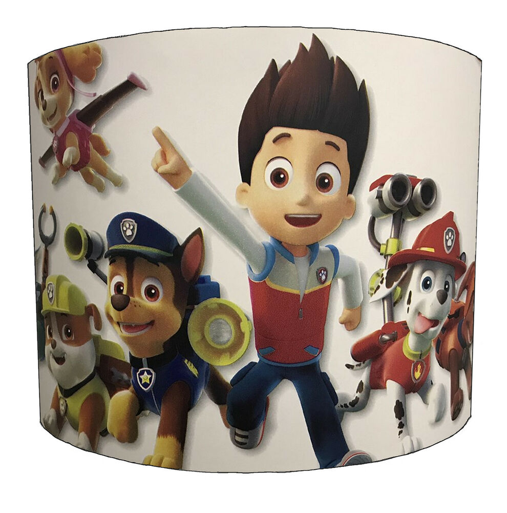 Details about Paw Patrol Lampshades Ideal To Match Paw Patrol Wallpaper & Paw Patrol Duvets.