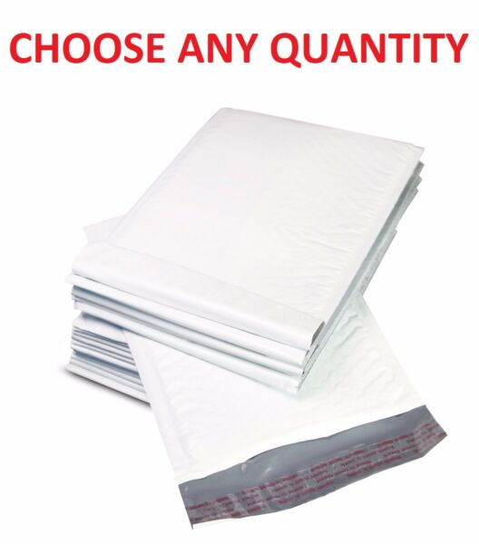#0 6x10 POLY BUBBLE MAILERS SHIPPING MAILING PADDED BAGS ENVELOPES 6