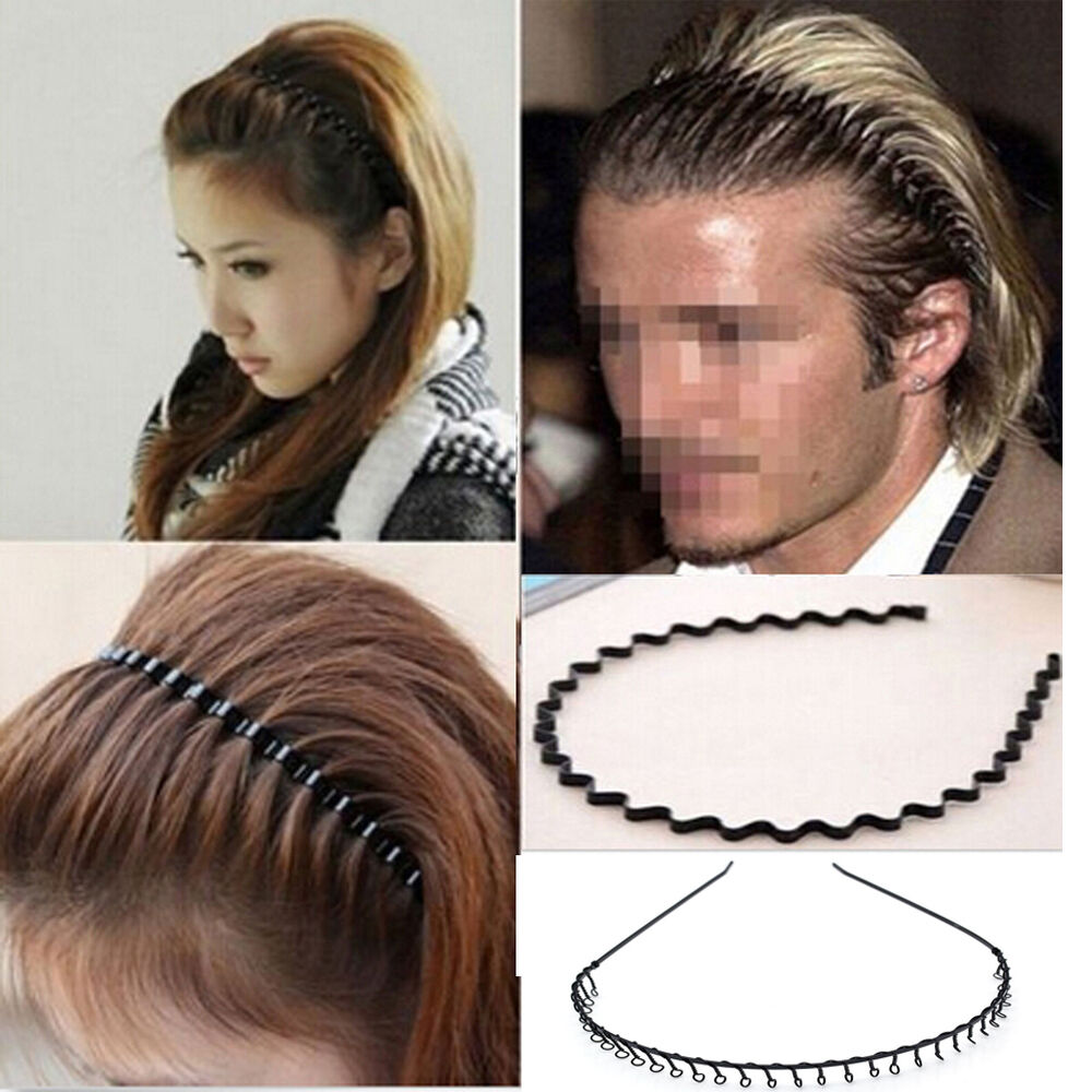 Details about Men Women Zig Zag Alice Hair Band Metal Wave Toothed Casual  Sports Headband 2018 287d95859a5