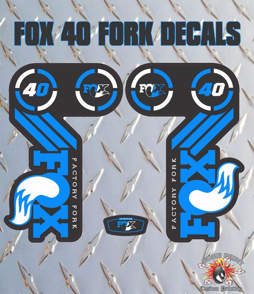 Details about fox 36 blue fork stickers decals graphics mountain bike down hill mtb