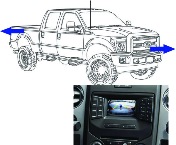 2013-16 Super Duty Front & Rear Camera Kit  for 4.2