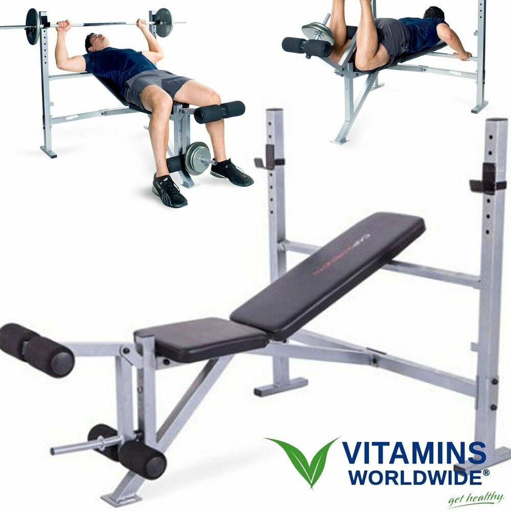 Weight Bench Olympic Strength Training Press Fitness Home