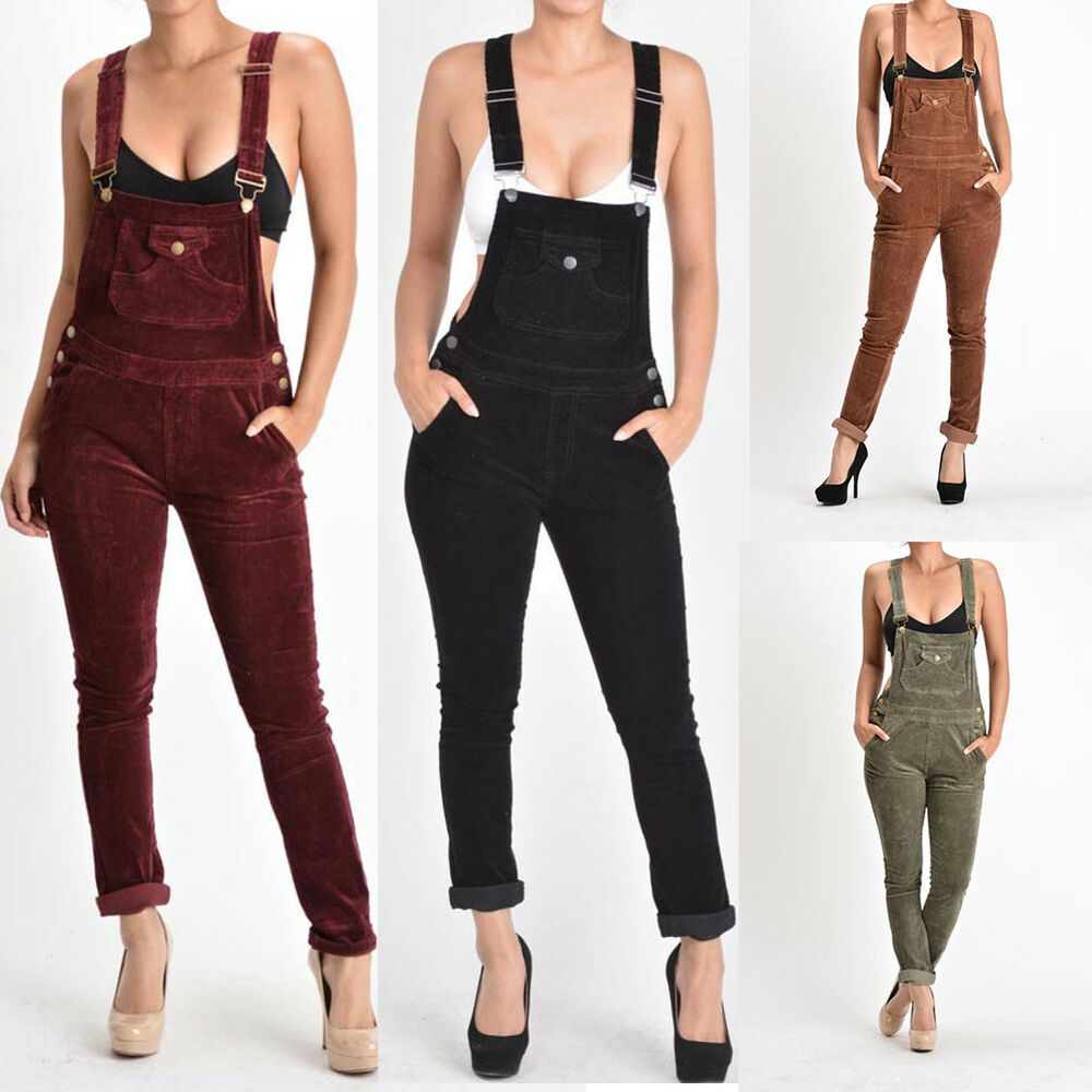 G Style Usa Women S Jumpsuits Corduroy Romper Overalls Pants Rjho446 S6e Ebay