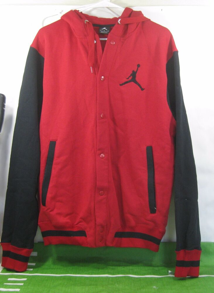 40865008ffc Details about NEW NIKE AIR JORDAN THE VARSITY HOODIE 451582-695 Size L ***