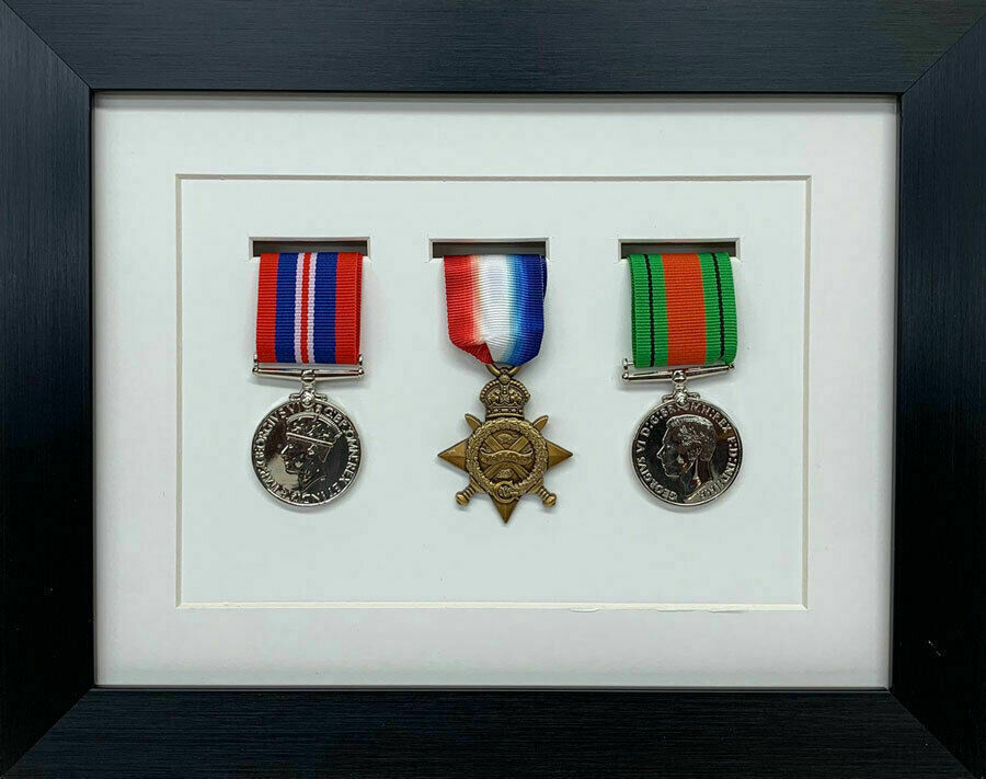NEW Military War Medal 3D Box Picture Frame Fits 3 Medal - White ...