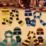 Cosplay Harry Potter Scarf Glove Hat Gryffindor Slytherin Hufflepuff Ravenclaw