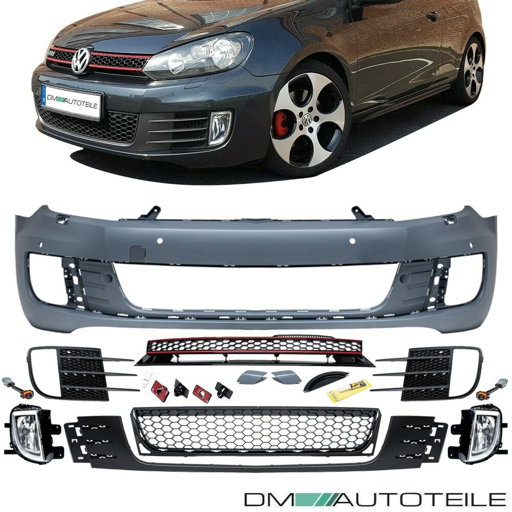 vw golf 6 front sto stange vorne gti optik nebel grill. Black Bedroom Furniture Sets. Home Design Ideas