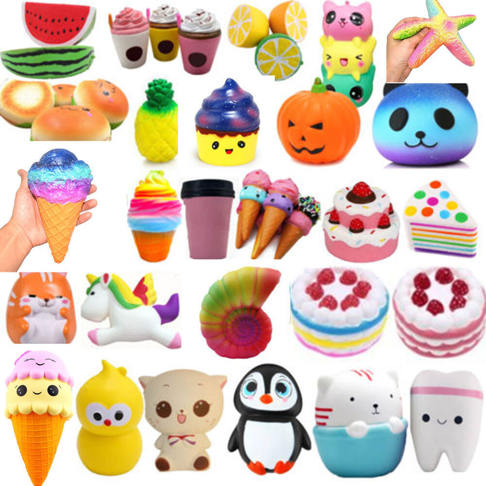 Squishy Collection Naura : Jumbo Slow Rising Squishies Scented Kawaii Squishy Squeeze Charm&Toy Collections eBay