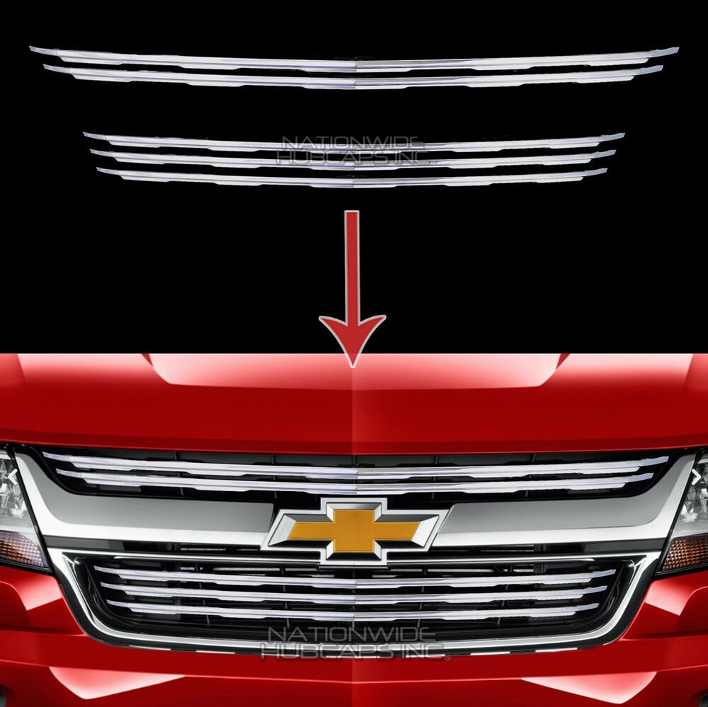 2015-2018 Chevy Colorado Chrome Snap On Grille Overlays 5