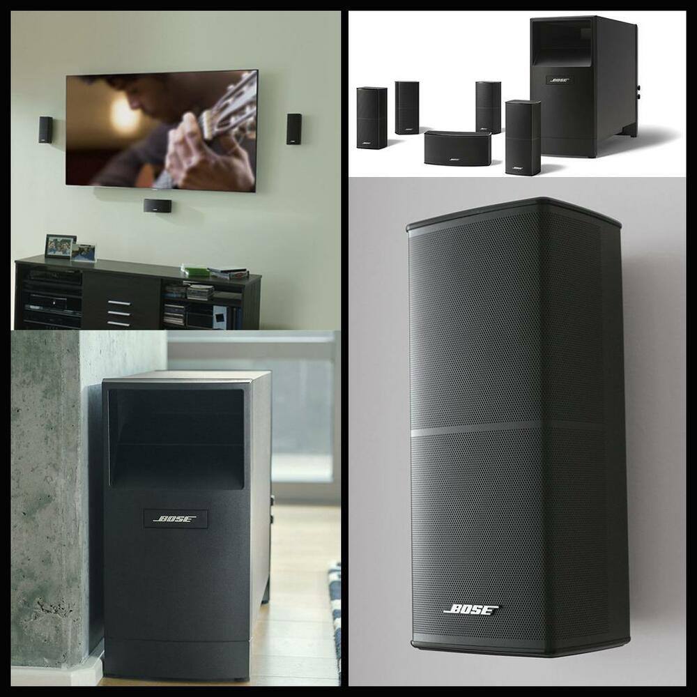 bose acoustimass v home audio theater 5 1 speaker surround. Black Bedroom Furniture Sets. Home Design Ideas