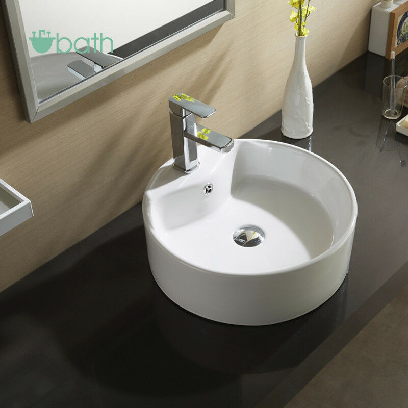 bowl sinks for bathrooms white ceramic bathroom sink vessel porcelain bowl 17495 | s l1000