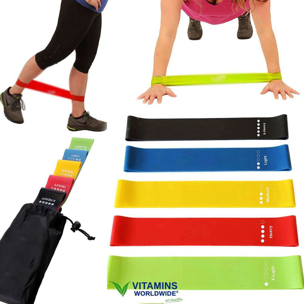 5 RESISTANCE BANDS LOOP Exercise Yoga Training Fitness