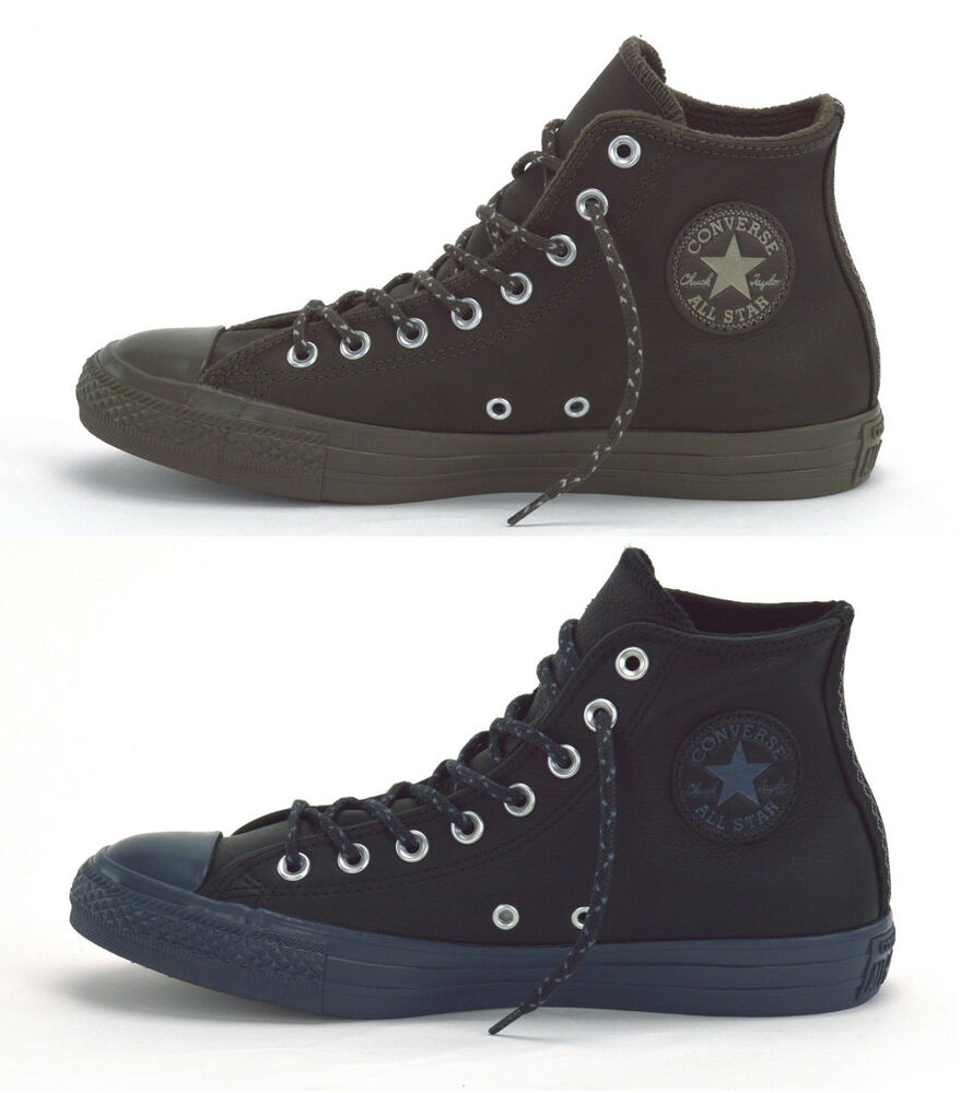 93ad52cbf02d94 CONVERSE CHUCK TAYLOR ALL STAR HI LEATHER + THERMAL - MENS SNEAKERS - BRAND  NEW