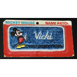 VINTAGE DISNEY MICKEY MOUSE NAME PATCH : VICKI