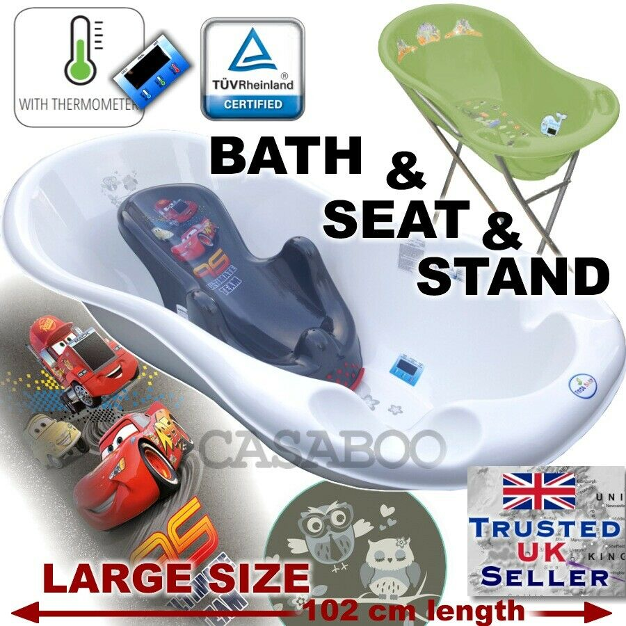 SET LARGE 102cm length Baby Bath Tub with STAND + seat cars ...