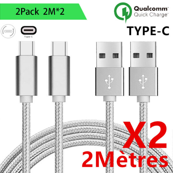 CABLE Chargeur USB Type c Résistant Huawei P9/Mate9/mate20/P10/P20/Pro/P30/Lite