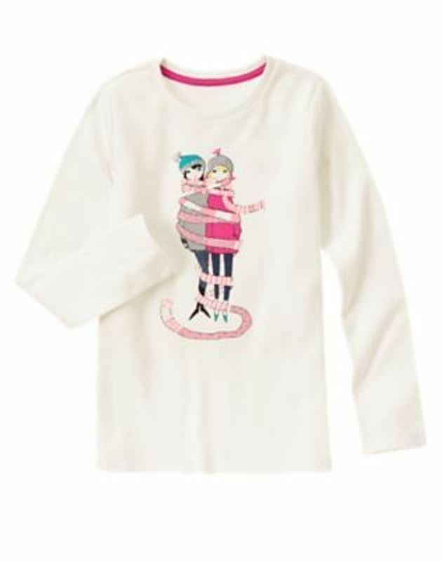 Gymboree Play By Heart White Shirt Top Girl in Pink Car w//Cat Size 4 5 6 NEW