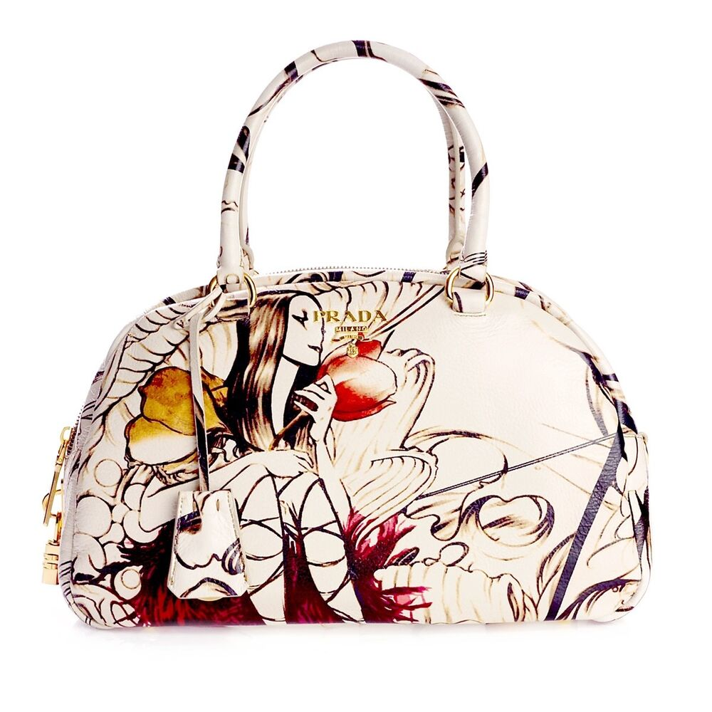 8327ef728a94 Details about NEW Authentic Prada Fairy Bag  VERY RARE  Limited Edition  James Jean Art Design