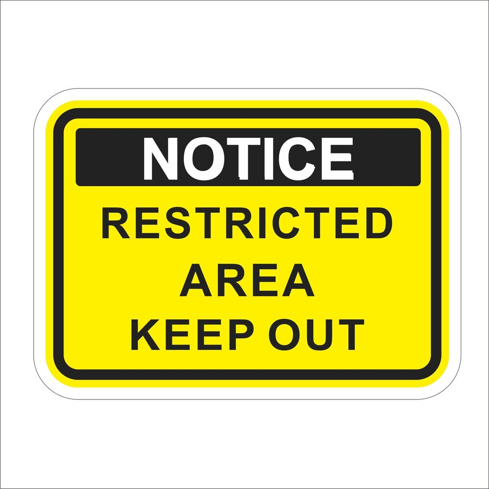 Details about 3m graphics restricted area keep out notice warning car helmet decal sticker