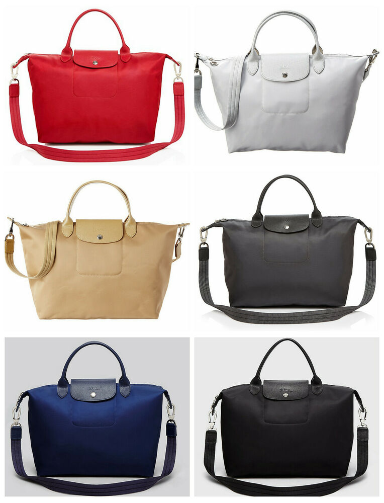 35eea8654d Details about NEW Longchamp NEO Medium Crossbody Bag Travel BLACK GREY NAVY  BILBERRY RED GOLD