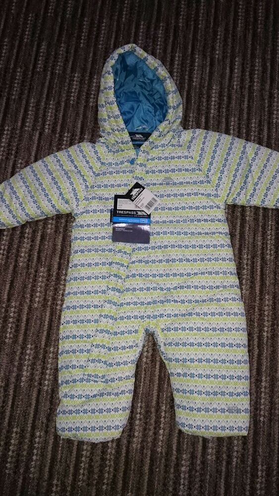 5275939b0 Trespass baby boy ski suit snowsuit 6-12 months brand new with tags ...