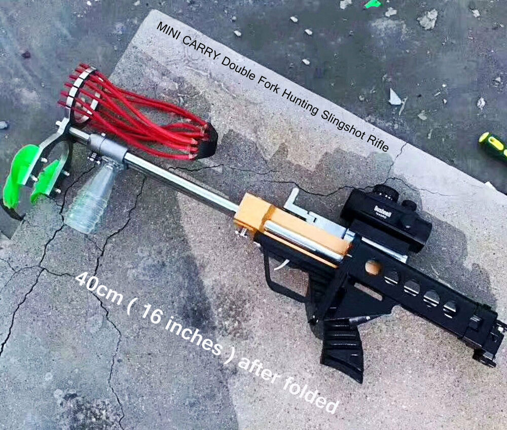 Double Fork Hunting Slingshot Rifle Driving Force By