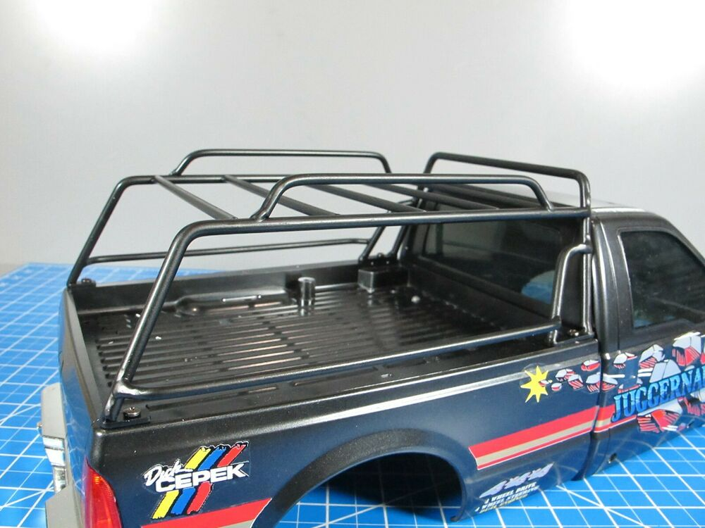 Custom Black Metal Roof Bed Rack Tamiya R C 1 10 High Lift