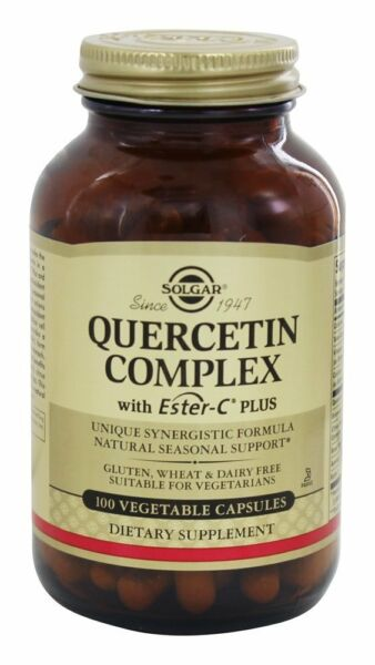 Solgar Quercetin Complex, with Ester-C Plus, 100 Vegetable Capsules