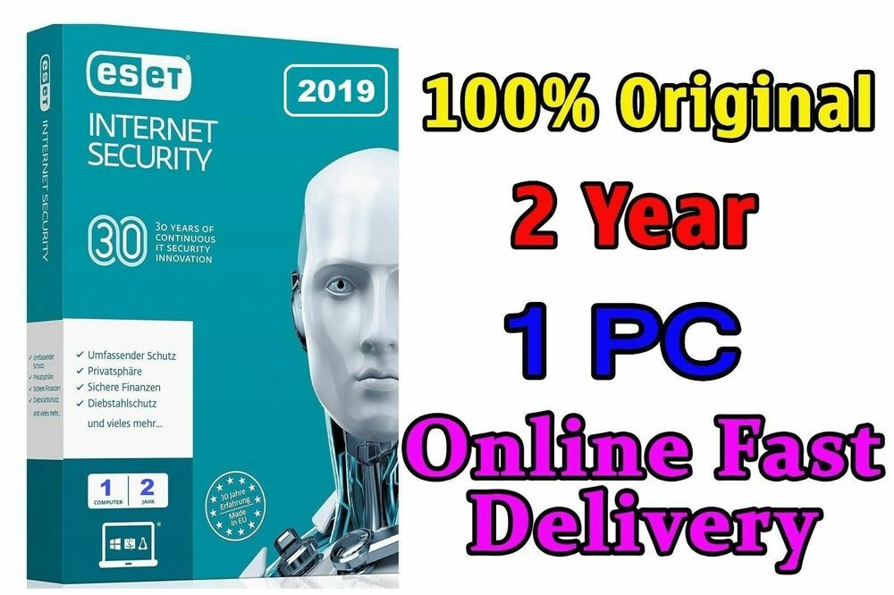 ESET INTERNET SECURITY 2018 Original 1 PC 6 Month license ...