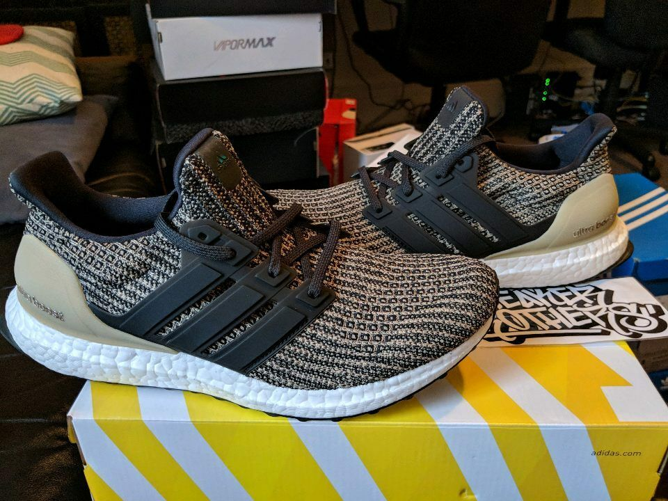 b8a5100a3 Details about Adidas Ultra Boost M LTD Dark Mocha 4.0 Khaki Trace Raw Gold  Core Black BB6170