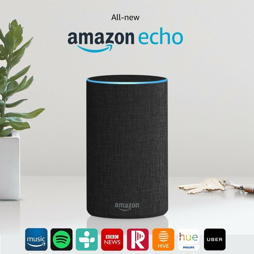 amazon echo alexa 2nd generation smart assistant speaker. Black Bedroom Furniture Sets. Home Design Ideas