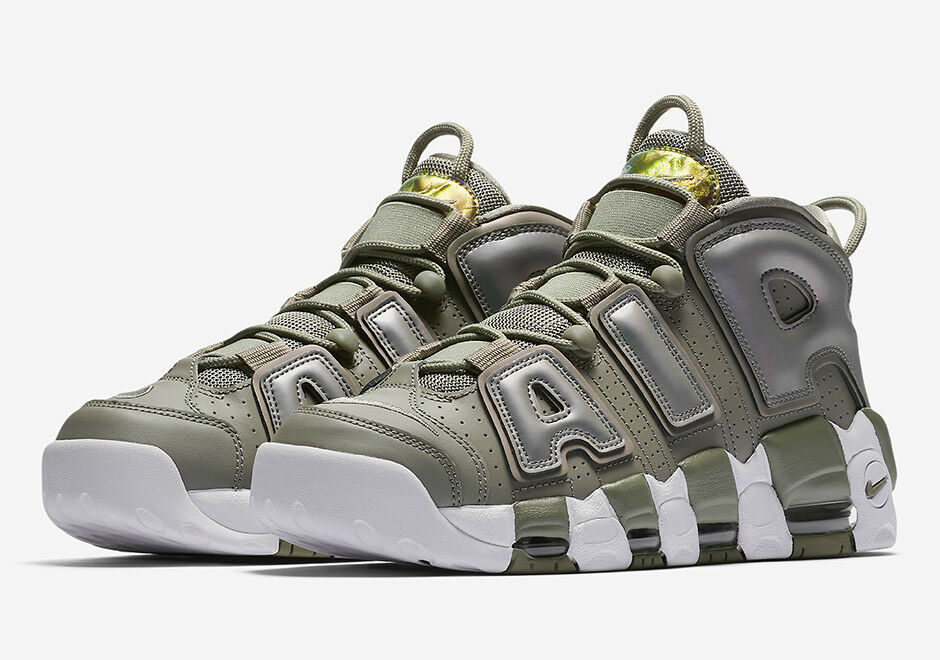 quality design eb7da 65716 Details about W NIKE AIR MORE UPTEMPO 917593-001 Dark Stucco White Black  Women s Sneakers NEW