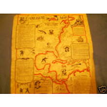 Pirate treasure map of the Americas parchment paper14