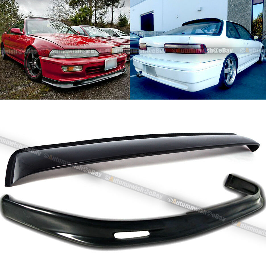 Fit 90 91 Integra Mugen Style Front Bumper Lip + Rear