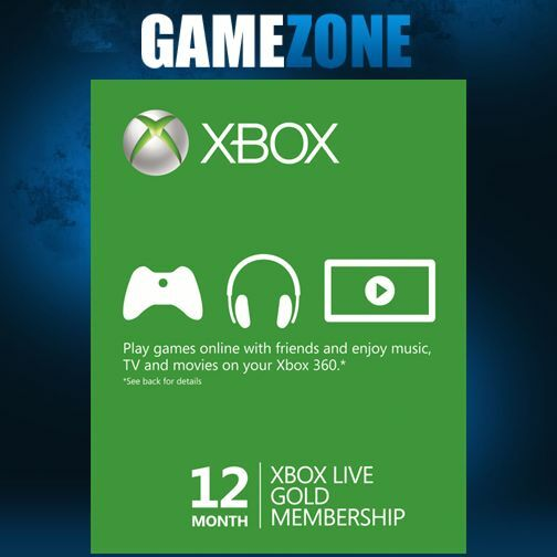 Xbox LIVE 12 Month Gold Membership For Microsoft Xbox One