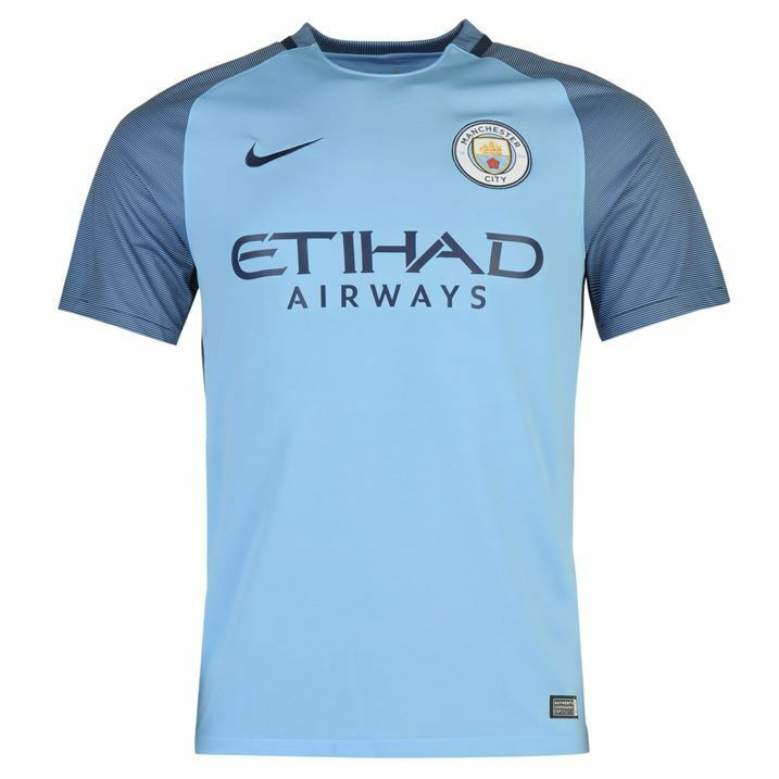 b2b0bb2e Details about Brand New Genuine Manchester City 2016/17 Home Shirt Adults  Mens Large & XL