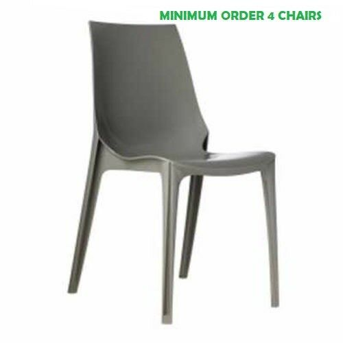 Chair VANITY, bright turtledove color, stackable, Scab Design