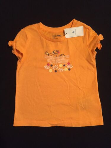 NWT babyGap Girls Mother Bird Feeding Young Orange Top Size 12-18 & 18-24 M