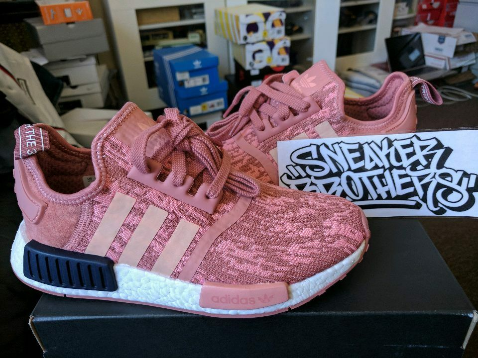 5b2856f5db742 Adidas NMD R1 Runner W Nomad Women s Raw Pink Trace Legend Ink 3M White  BY9648