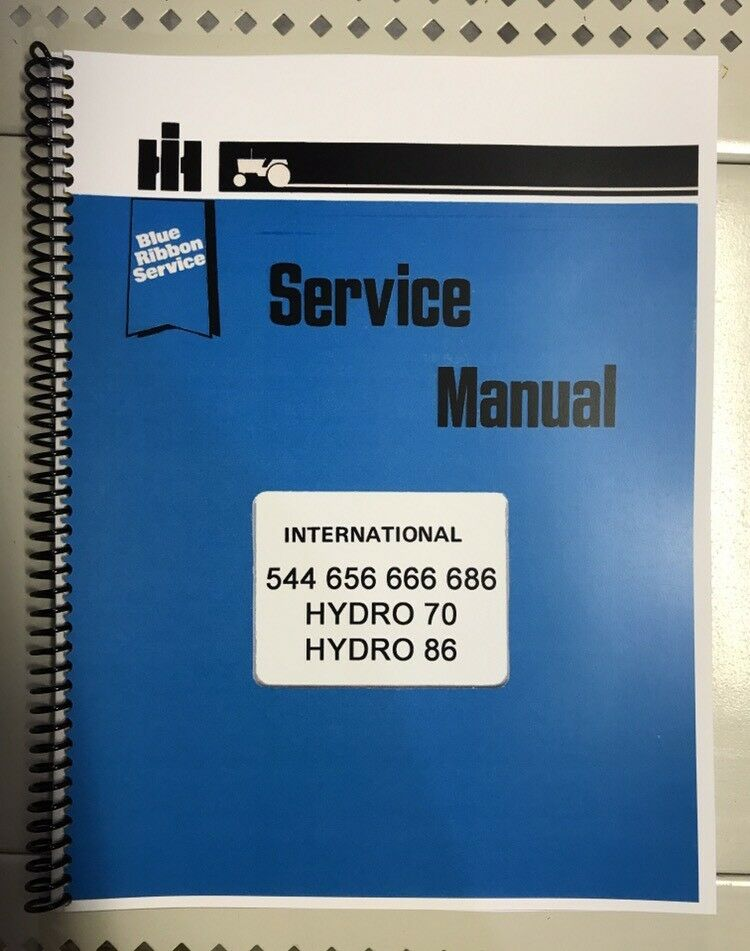 details about 656 666 international harvester tractor technical service  shop repair manual