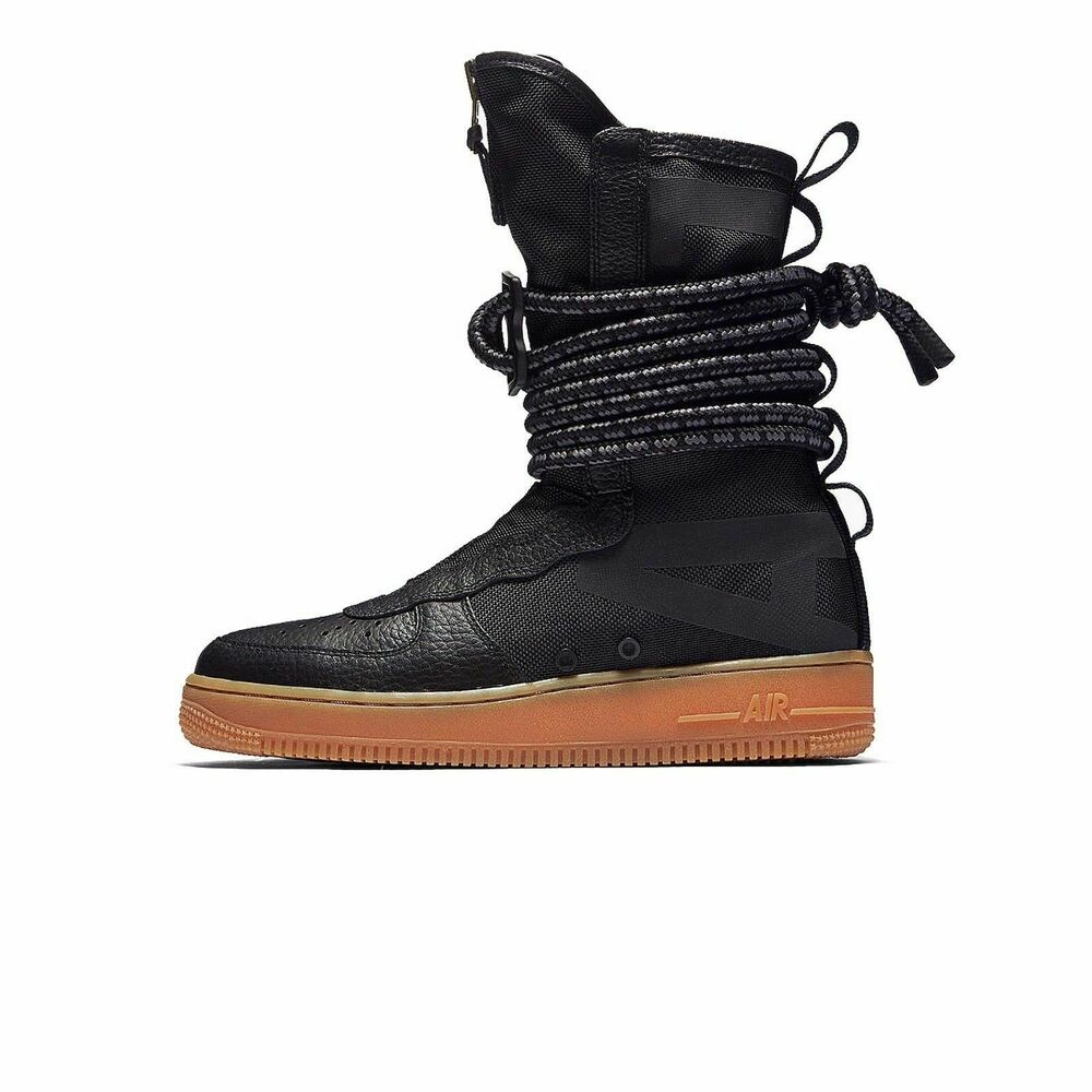 the best attitude b392a d5c90 Details about Nike SF AF1 HI Black Gum size 9.5 Special Field. AA1128-001. Air  Force One Boots