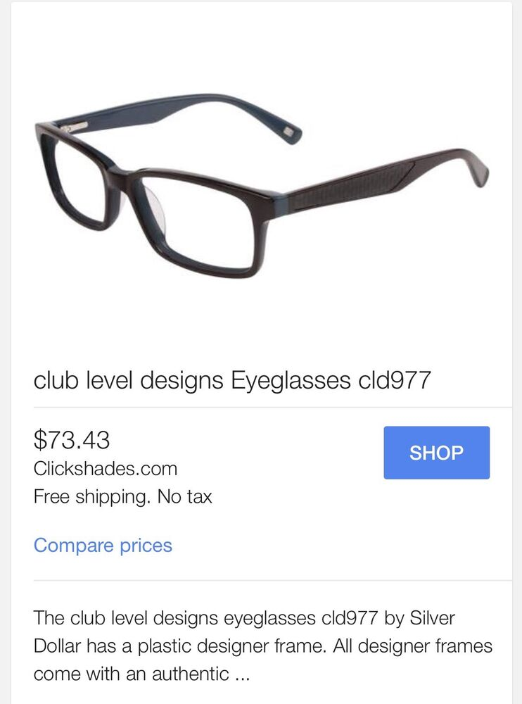 Silver Dollar Club Level Designs eyeglasses CLD 977 #1 135 | eBay