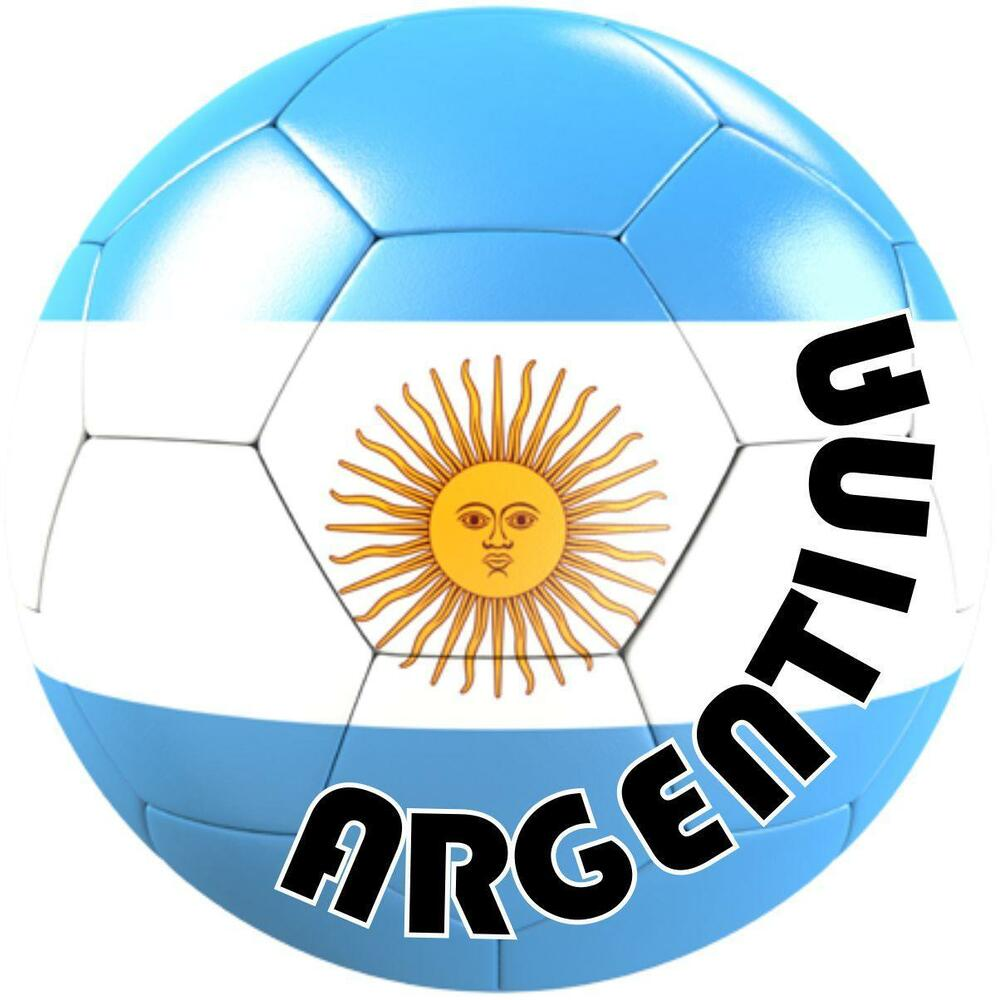Details about autocolant sticker team car motorrad soccer flag ball foot argentina