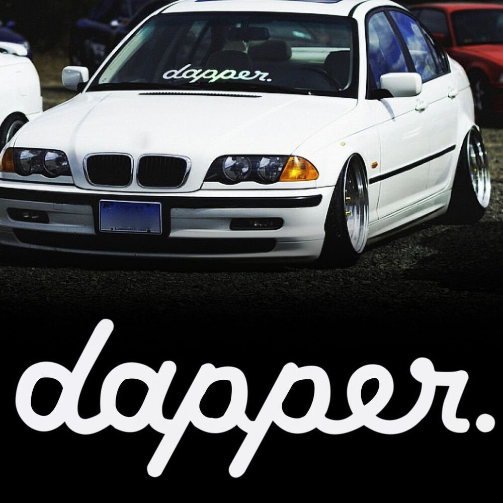 Details about new dapper white auto decal sticker car styling hella flush windshield stickers