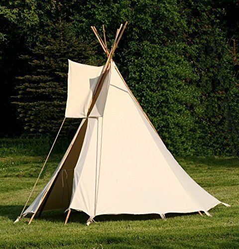 kinder tipi wigwam kinderzelt indianer spielzelt zelt komplett mit holz stangen ebay. Black Bedroom Furniture Sets. Home Design Ideas